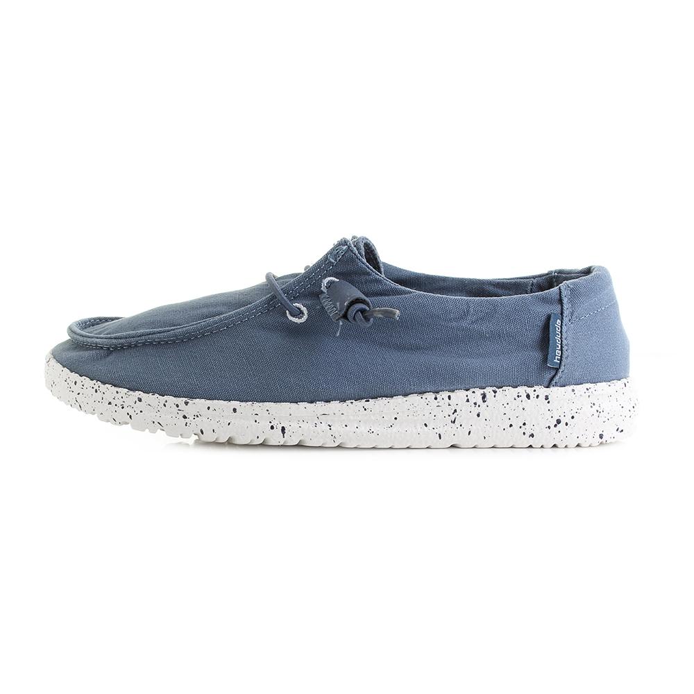 à Bleu Femmes Hey Casual Chaussures Shu Dude lacets Taille Acier Wendy Plat fq84qrtw