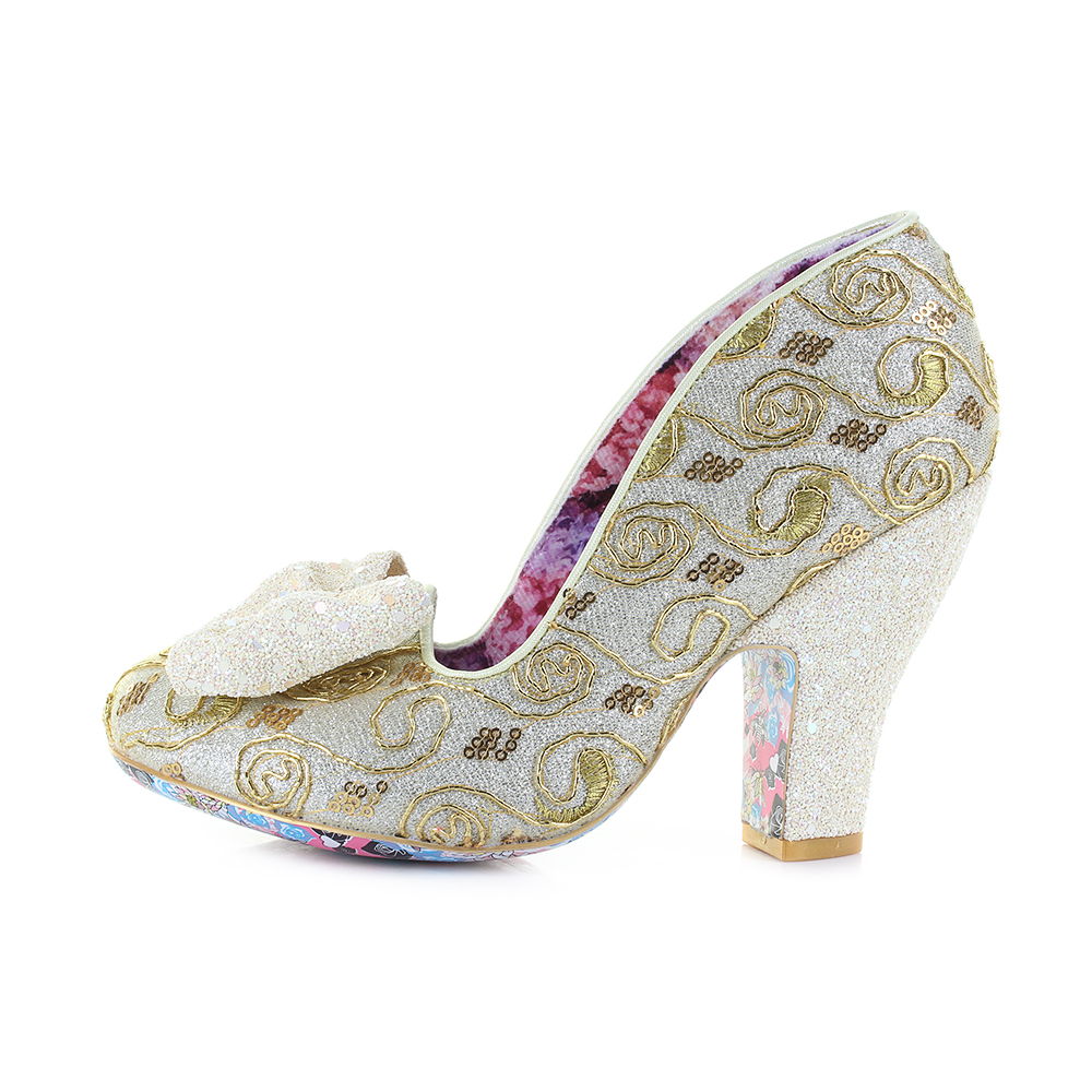 05dba4263289 Womens Irregular Choice Nick of Time Yellow High Heel Court Shoes UK Size