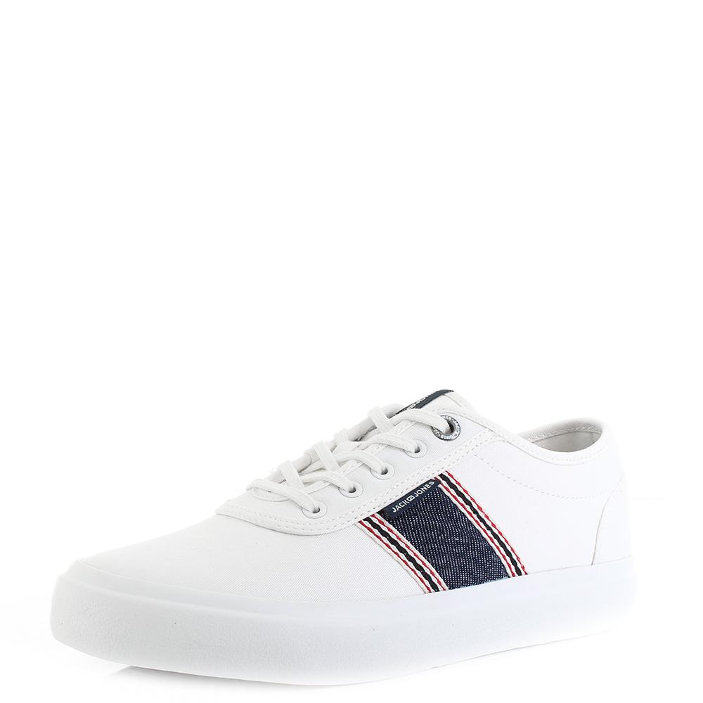 Tropfenverschiffen Geschäft Skate-Schuhe Details about Mens Jack and Jones Austin Denim Stripe Bright White Plimsoll  Trainers UK Size