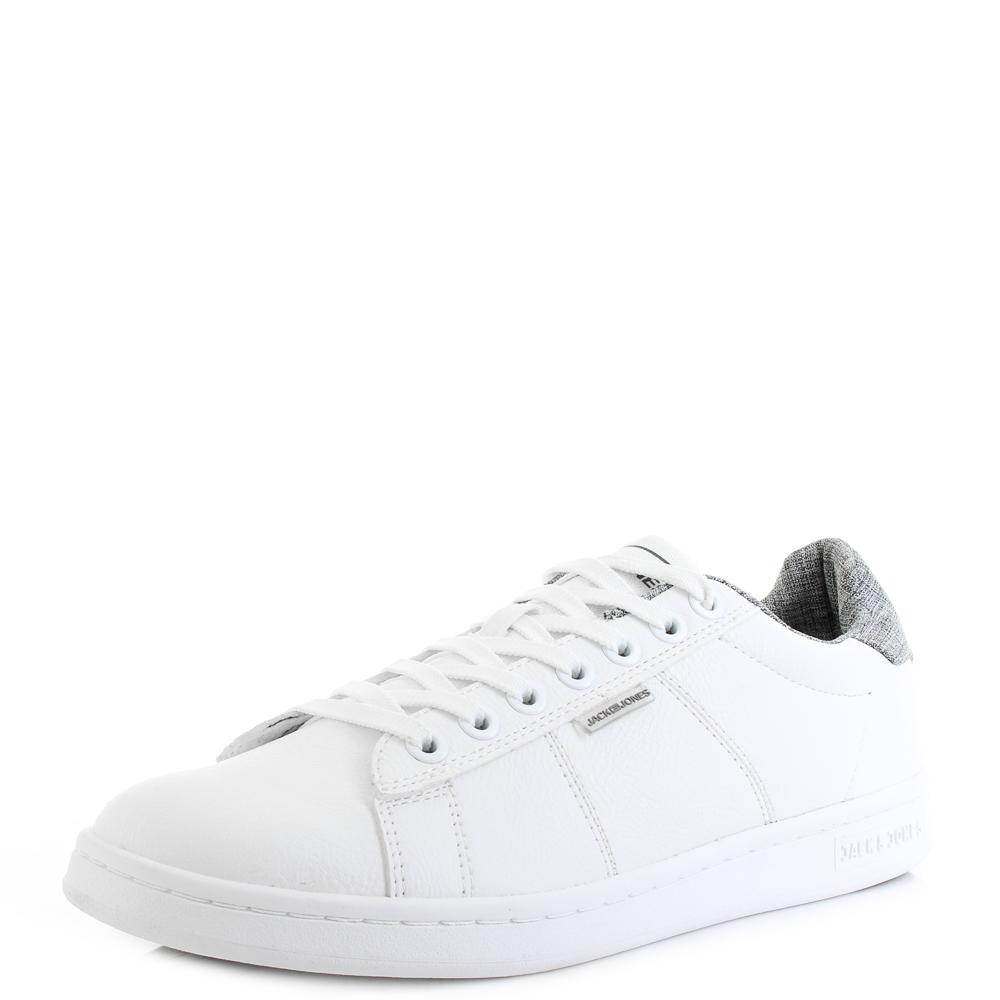 attraktiv und langlebig Shop für echte Bestbewertet authentisch Details about Mens Jack and Jones Bane Bright White Court Fashion Shoes  Trainers Size