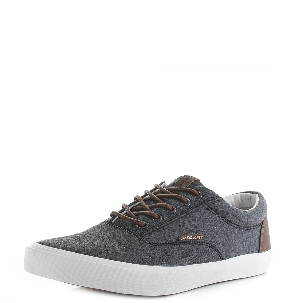 Size And Classic About Mens Trainers Jones Anthracite Canvas Chambray Jack Vision Details GjVqpULSzM