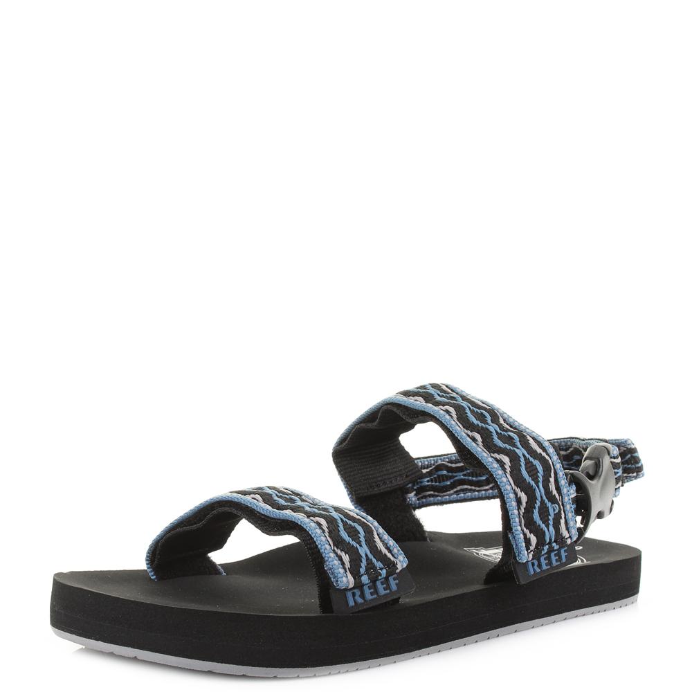 3d5246432cc4 Details about Mens Womens Reef Convertible Black Grey Blue Flat Activity  Sandals Shu Size