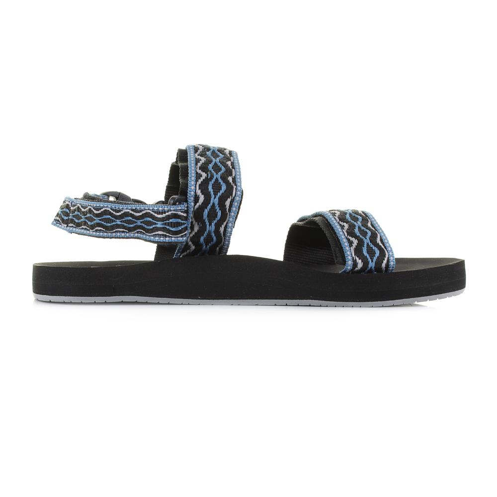 c9a58664ecd4 Mens Womens Reef Convertible Black Grey Blue Flat Activity Sandals Size