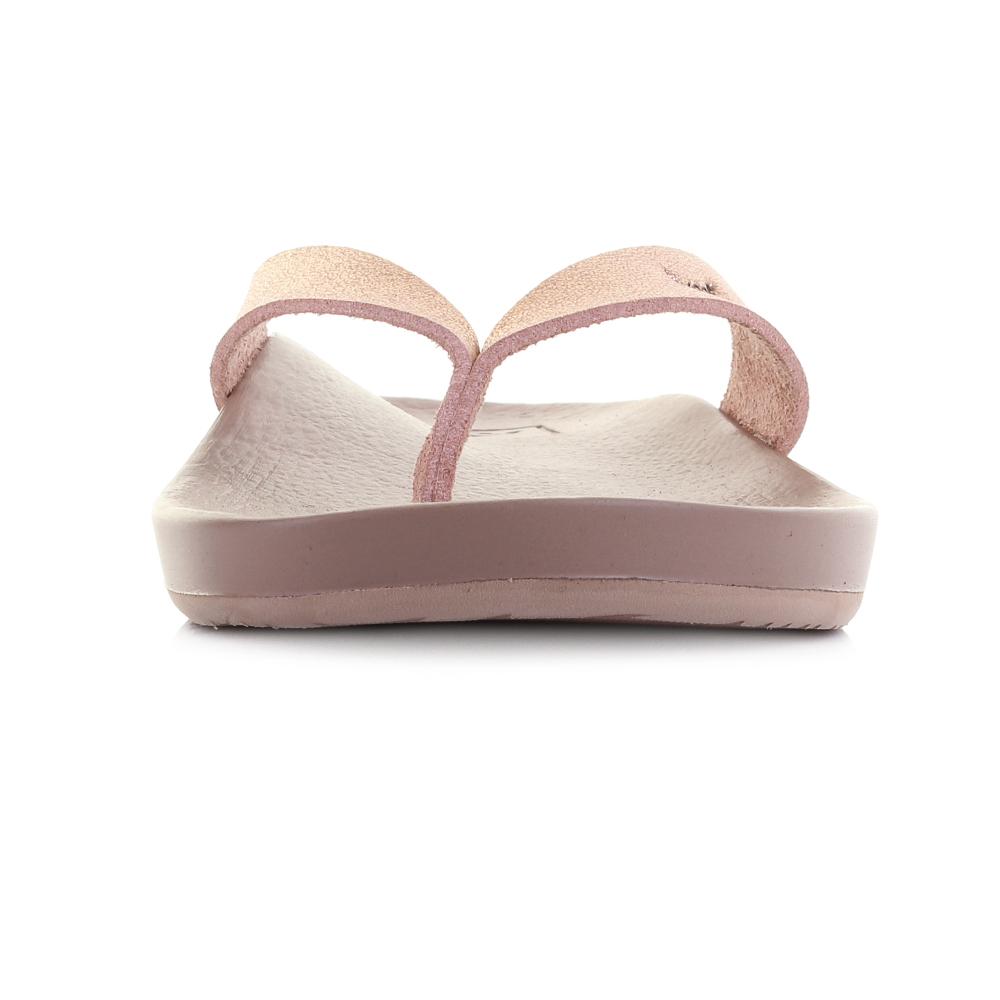 95d33097fd2 Womens Reef Cushion Bounce Court Rose Gold Comfort Thong Flip Flops ...