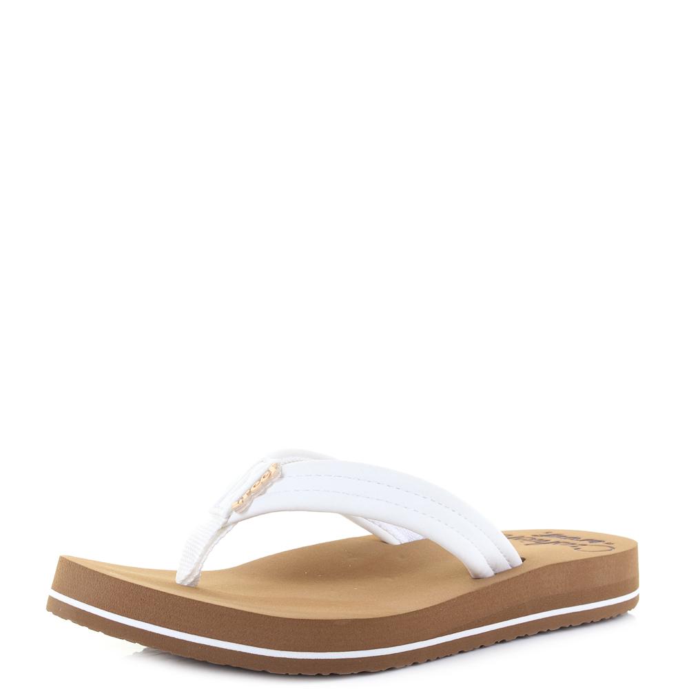 faffd3df3ab9 Womens Reef Star Cushion Breeze Cloud White Brown Flip Flops Sandals Shu  Size