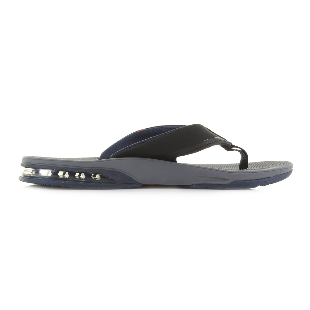 8bbe536b79e Mens Reef Fanning Low Grey Black Red Sporty Comfort Beach Flip Flops Size
