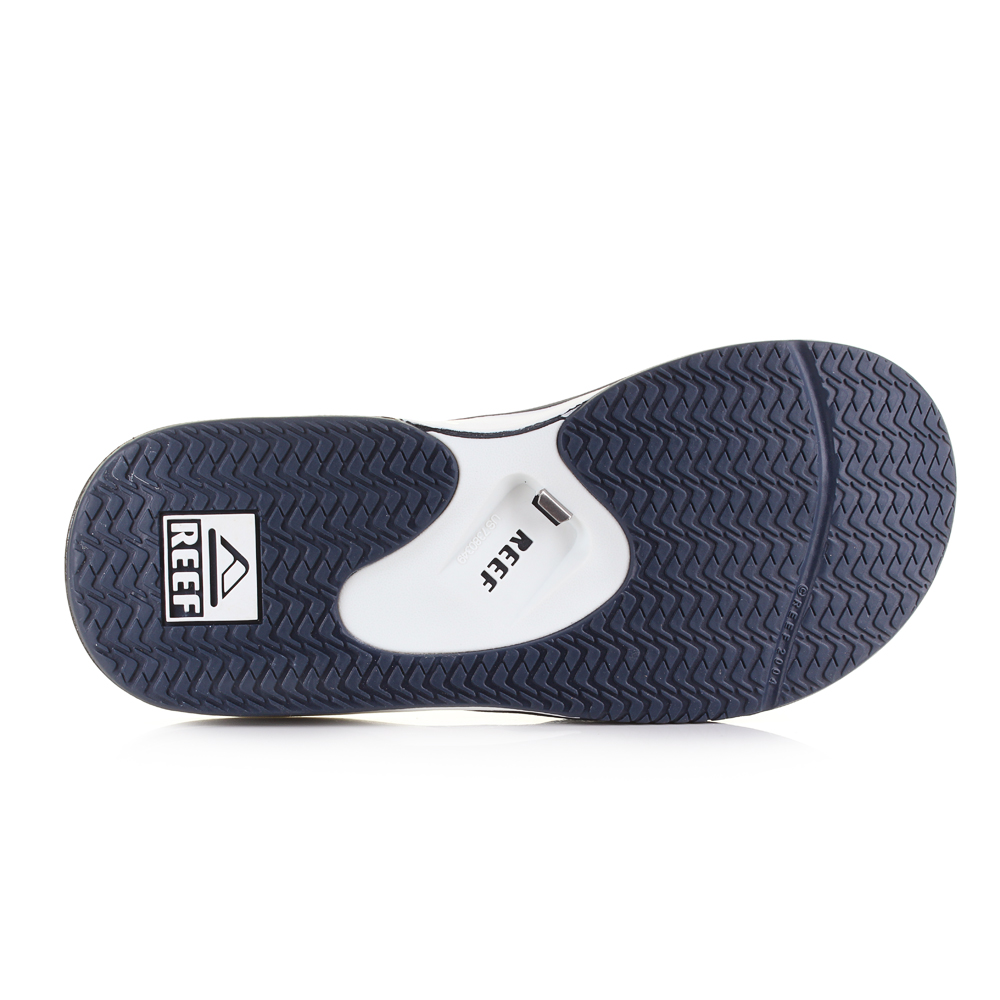 73885a2f468 Mens Reef Fanning Navy Blue White Sporty Thong Flip Flops Sandals ...