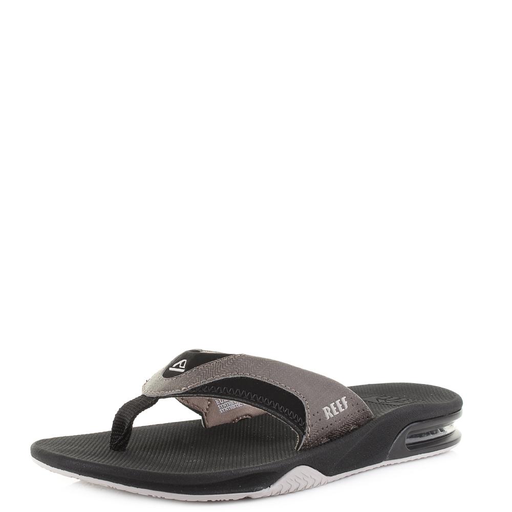 67c18e80fa42 Details about Mens Reef Fanning Prints Tan Woven Comfort Sport Sandal Flip  Flops Shu Size