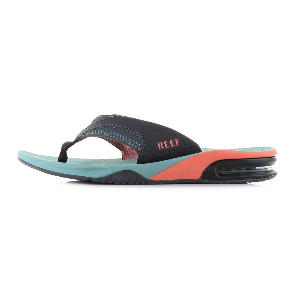Reef Fanning Watermelon Orange Bright Sandals Flip Flops Sz Size