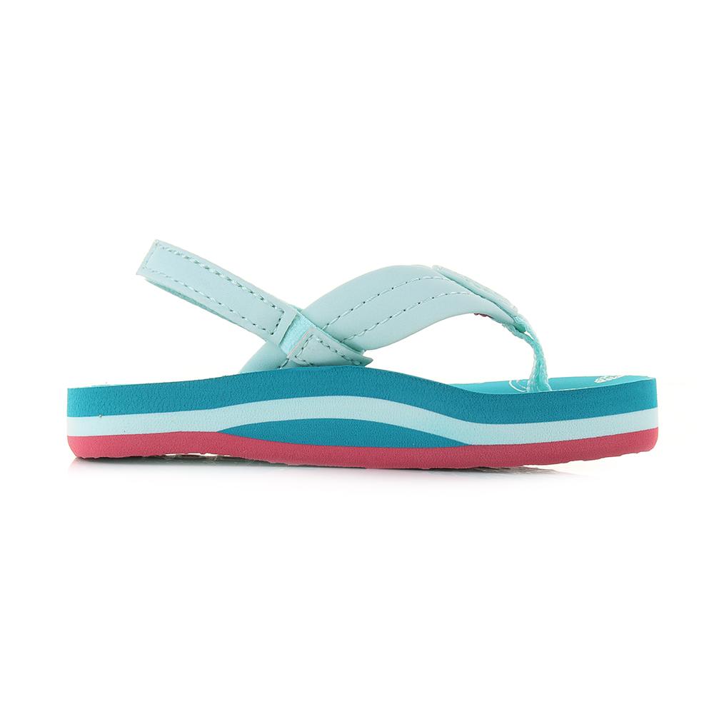 113e7e22101f Kids Girls Reef Little AHI Fruits Blue Green Comfort Beach Flip Flop Sandal  Shu