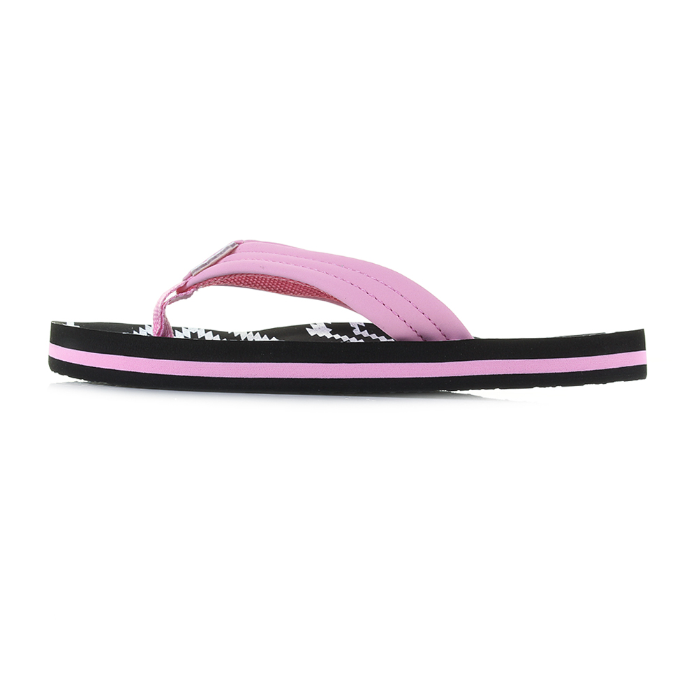 Kids Girls Reef AHI Loretto Pink Black Comfort Beach Flip Flop Sandals  Size