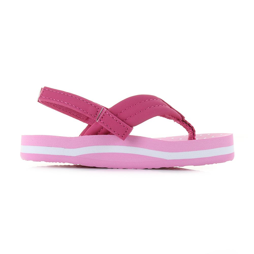 014903bcb25b Kids Girls Reef Little AHI Pink Polka Dot Comfort Beach Flip Flop Sandals  Shu S