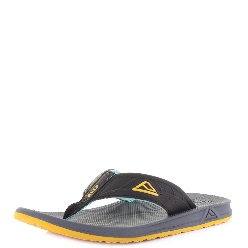 72e747d0f06 Mens Reef Phantoms Aqua Yellow Lightweight Comfort Sport Flip Flops Shu Size