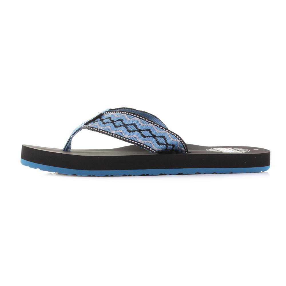 3315b9c371d8 Mens Reef Smoothy Vintage Blue Thong Style Flip Flop Sandals Shu ...