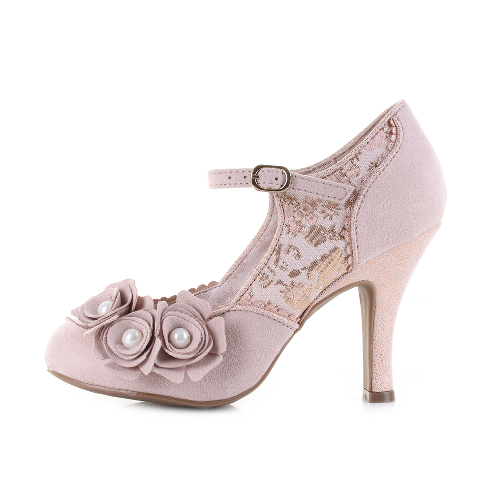 Womens Ruby Shoo Antonia Antonia Antonia pink gold Elegant Wedding  Vegan Friendly shoes Shu Siz fb8345