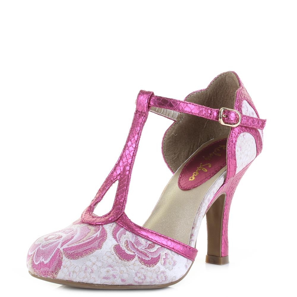 Womens Ruby Shoo Polly Fuchsia Pink Elegant Vegan Friendly Heels Shoes UK  Size 600a7b19c0