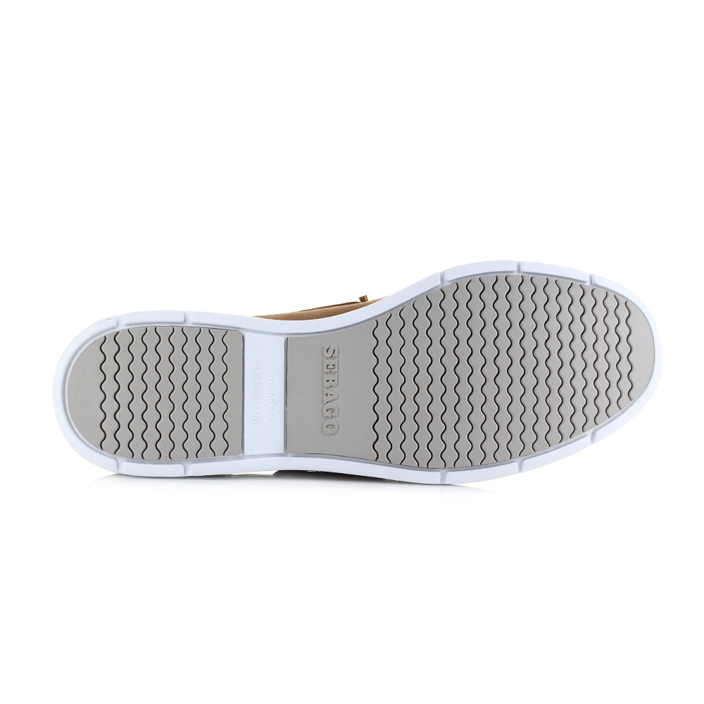 Sebago Litesides Fgl 7000HJ0 Mens Brown Leather Deck Casual Lace Up Boat Shoes