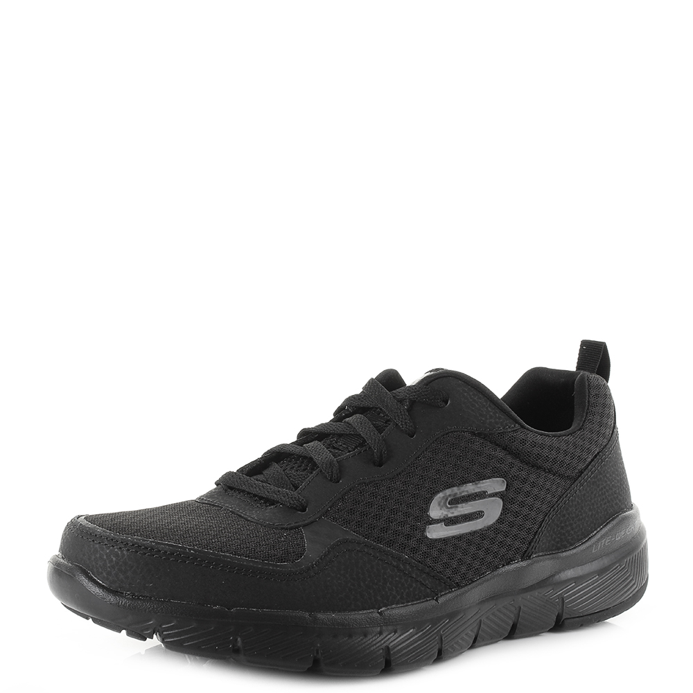 black sketcher trainers