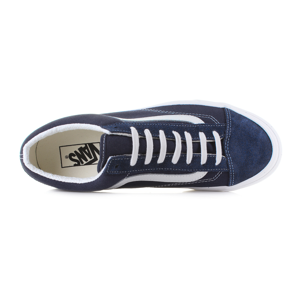Mens-Vans-Style-36-Dress-Blue-Navy-Suede-Canvas-Classic-Trainers-Shu-Size thumbnail 6