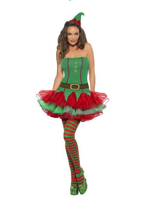 Ladies Fever Sexy Elf Costume