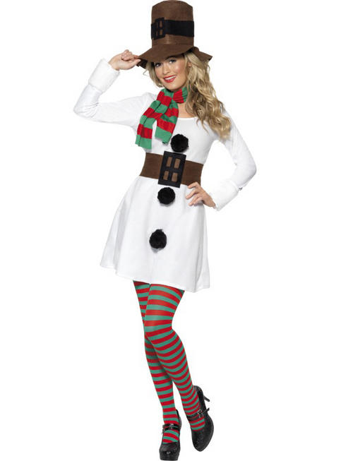 Ladies Sexy Miss Snowman Costume