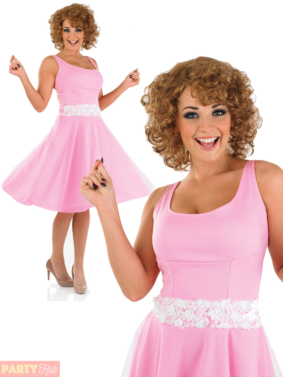Ladies 80s Baby Dancer Costume Adults Dirty Dancing Fancy Dress