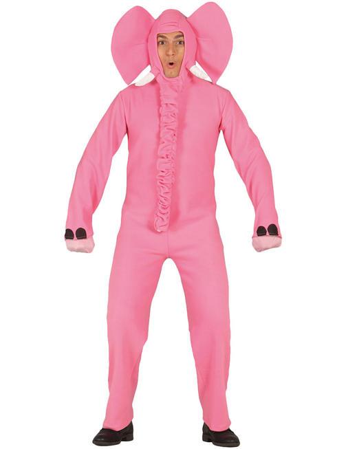 Adult's Pink Elephant Costume