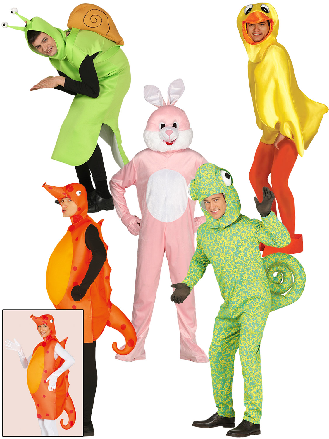 Adult animal costume mens ladies duck rabbit snail chameleon fancy transform yourself into a giant animal with these fantastic adults novelty animal costumes perfect for stag hen party or even easter solutioingenieria Choice Image