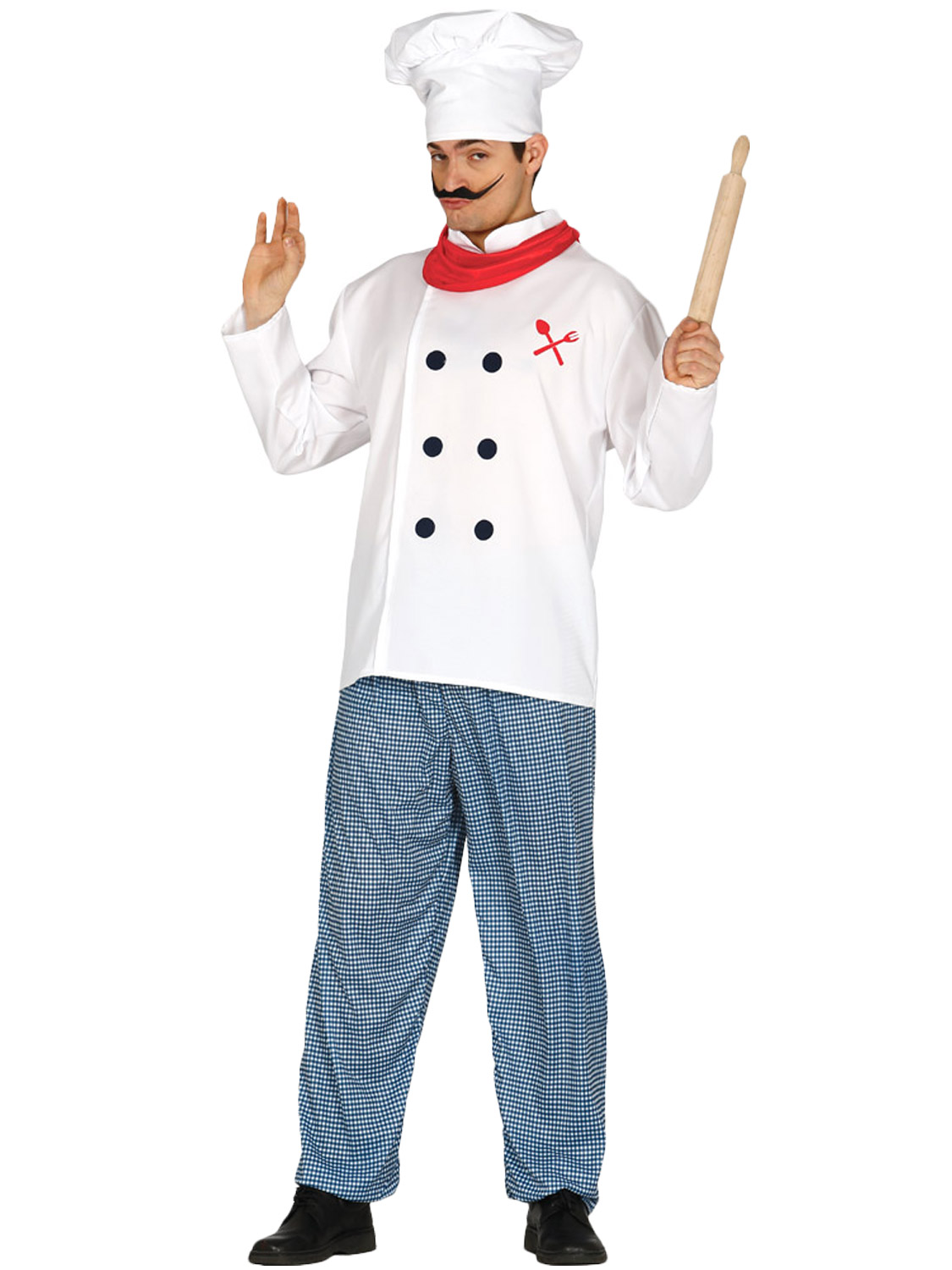 Mens white chef costume hat adults cook fancy dress for Cuisinier zombie