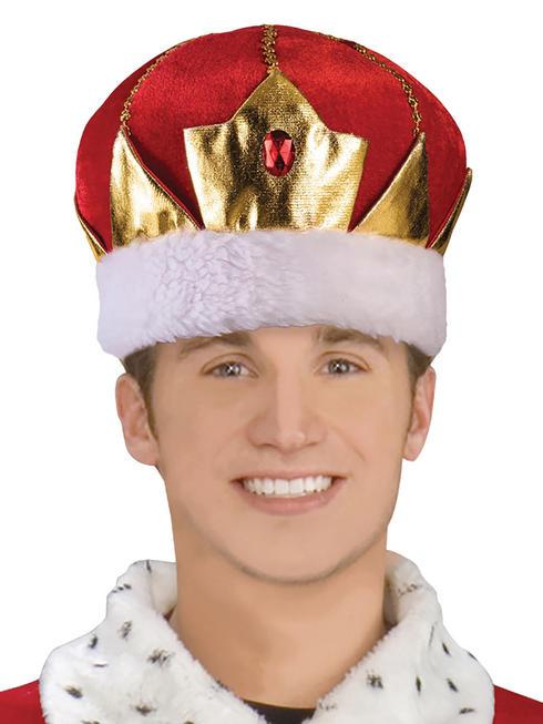 Adult's Red Kings Crown