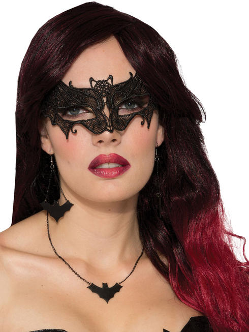 Adult's Bat Lace Mask