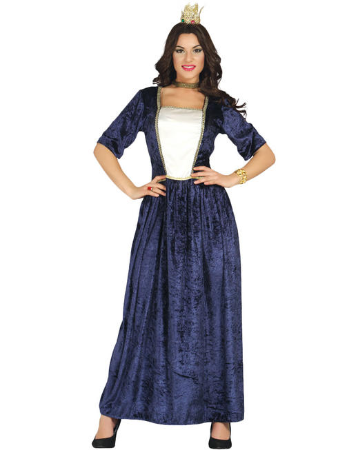 Ladies Blue Medieval Princess Costume