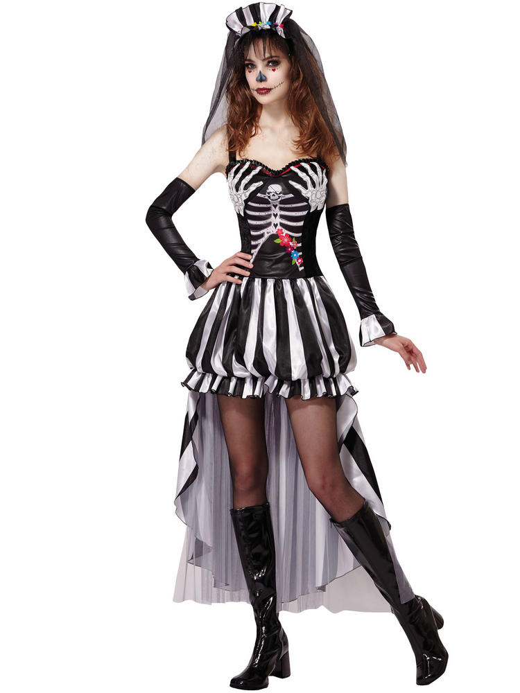 Ladies Skeleton Queen Costume