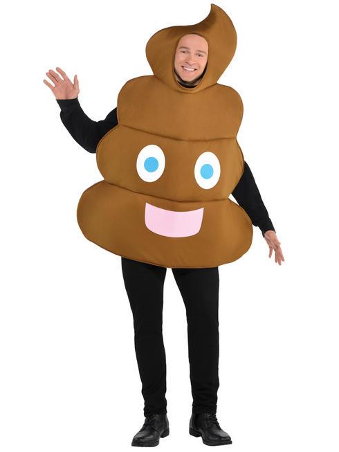 Adult's Poo Emoji Costume