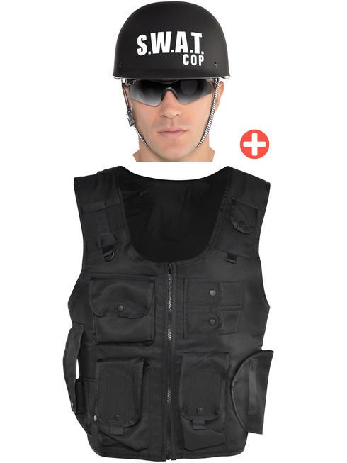 Adult's Swat Vest & Helmet