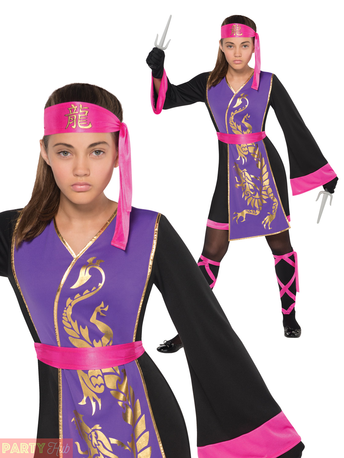 Girls-Sassy-Samurai-Costume-Childs-Teens-Ninja-Warrior-  sc 1 st  eBay & Girls Sassy Samurai Costume Childs Teens Ninja Warrior Fancy Dress ...