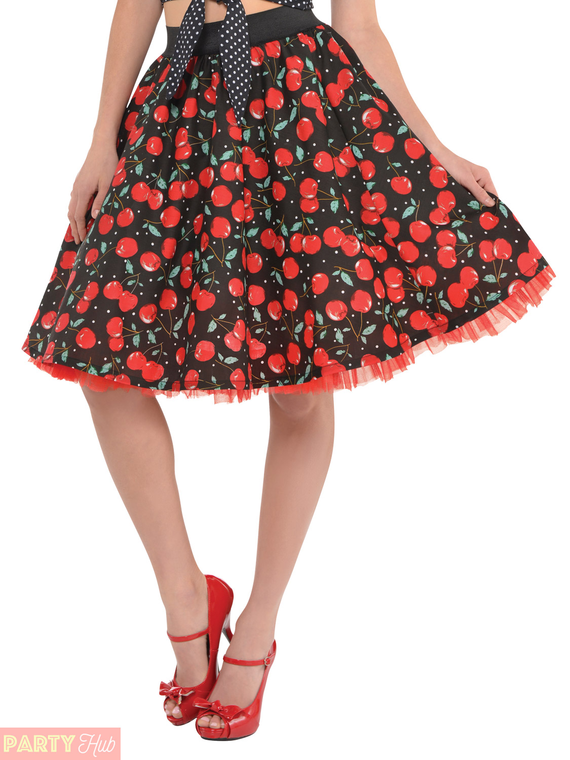 ladies rockabilly costume accessories womens 50s rock n roll fancy dress outfit ebay. Black Bedroom Furniture Sets. Home Design Ideas