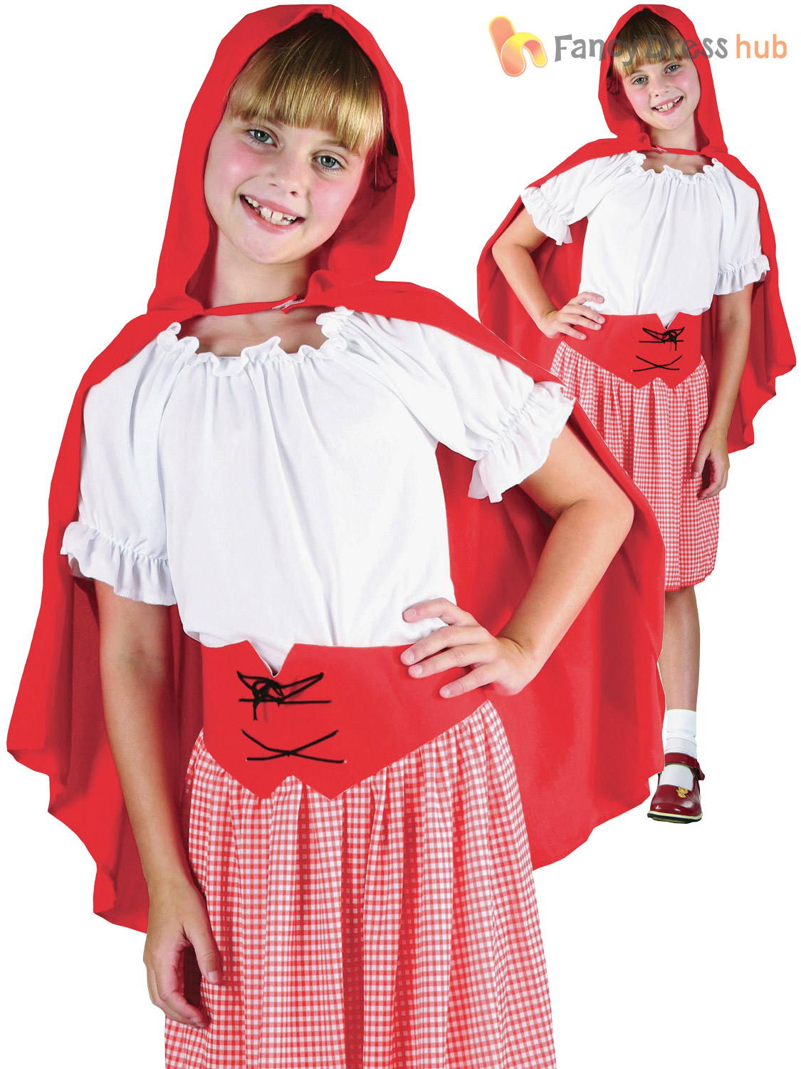 Girls-Little-Red-Riding-Hood-Costume-World-Book-  sc 1 st  eBay : little kids costume  - Germanpascual.Com