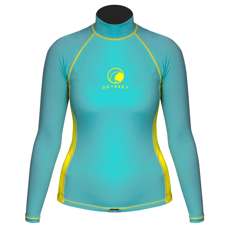 Odyssey-Ladies-Long-Sleeve-Rash-Vest-Womens-Surf-T-Shirt-UV50-Protection-Guard thumbnail 3