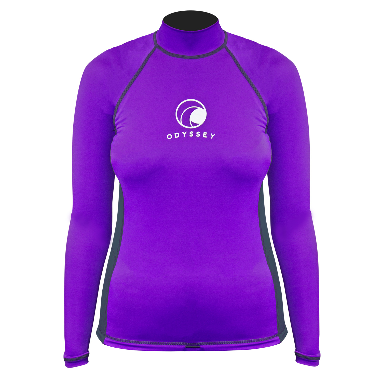 Odyssey-Ladies-Long-Sleeve-Rash-Vest-Womens-Surf-T-Shirt-UV50-Protection-Guard thumbnail 14