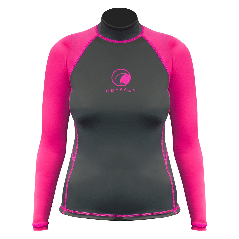 Odyssey-Ladies-Long-Sleeve-Rash-Vest-Womens-Surf-T-Shirt-UV50-Protection-Guard thumbnail 10
