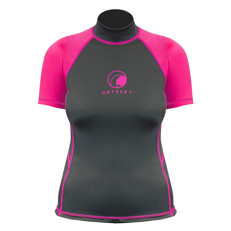 Odyssey-Ladies-Short-Sleeve-Rash-Vest-Womens-T-Shirt-UV50-Protection-Guard-Surf thumbnail 11