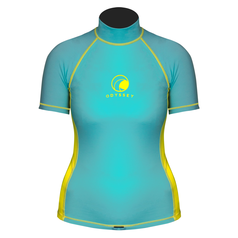 Odyssey-Ladies-Short-Sleeve-Rash-Vest-Womens-T-Shirt-UV50-Protection-Guard-Surf thumbnail 6