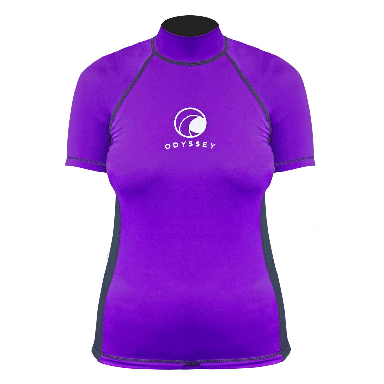 Odyssey-Ladies-Short-Sleeve-Rash-Vest-Womens-T-Shirt-UV50-Protection-Guard-Surf thumbnail 17
