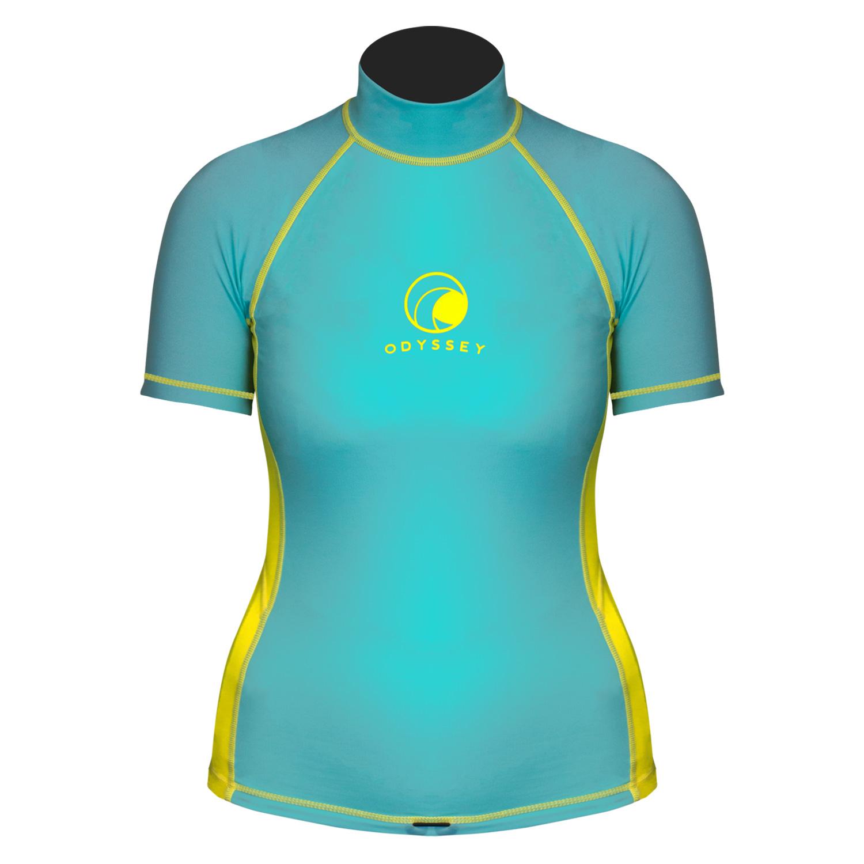Odyssey-Ladies-Short-Sleeve-Rash-Vest-Womens-T-Shirt-UV50-Protection-Guard-Surf thumbnail 8