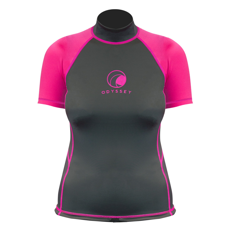 Odyssey-Ladies-Short-Sleeve-Rash-Vest-Womens-T-Shirt-UV50-Protection-Guard-Surf thumbnail 14