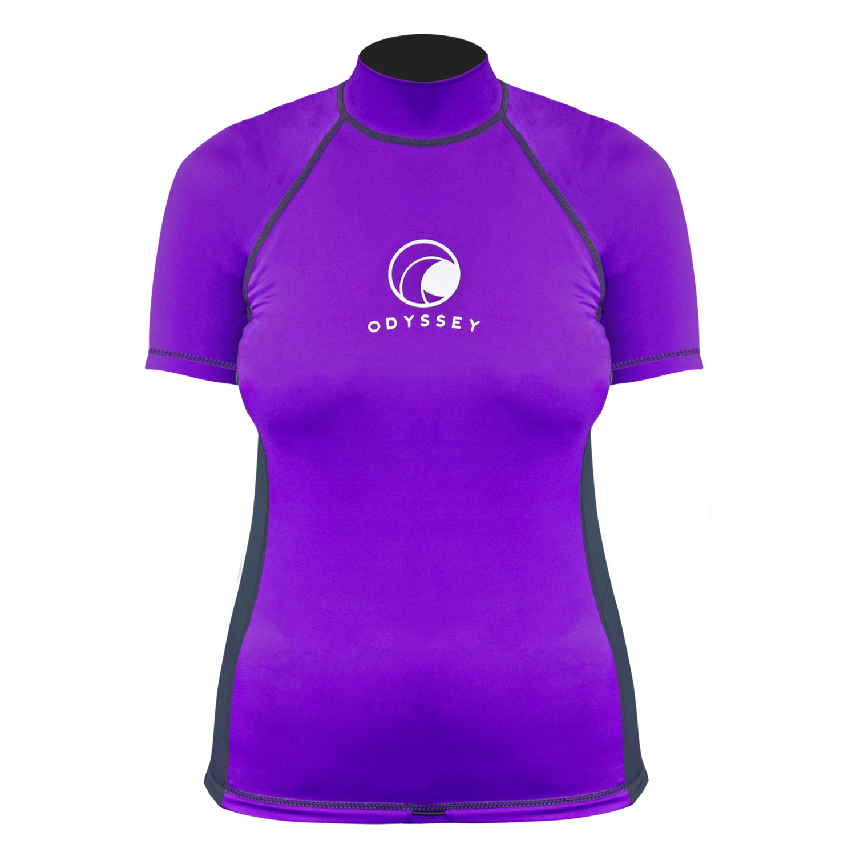 Odyssey-Ladies-Short-Sleeve-Rash-Vest-Womens-T-Shirt-UV50-Protection-Guard-Surf thumbnail 19