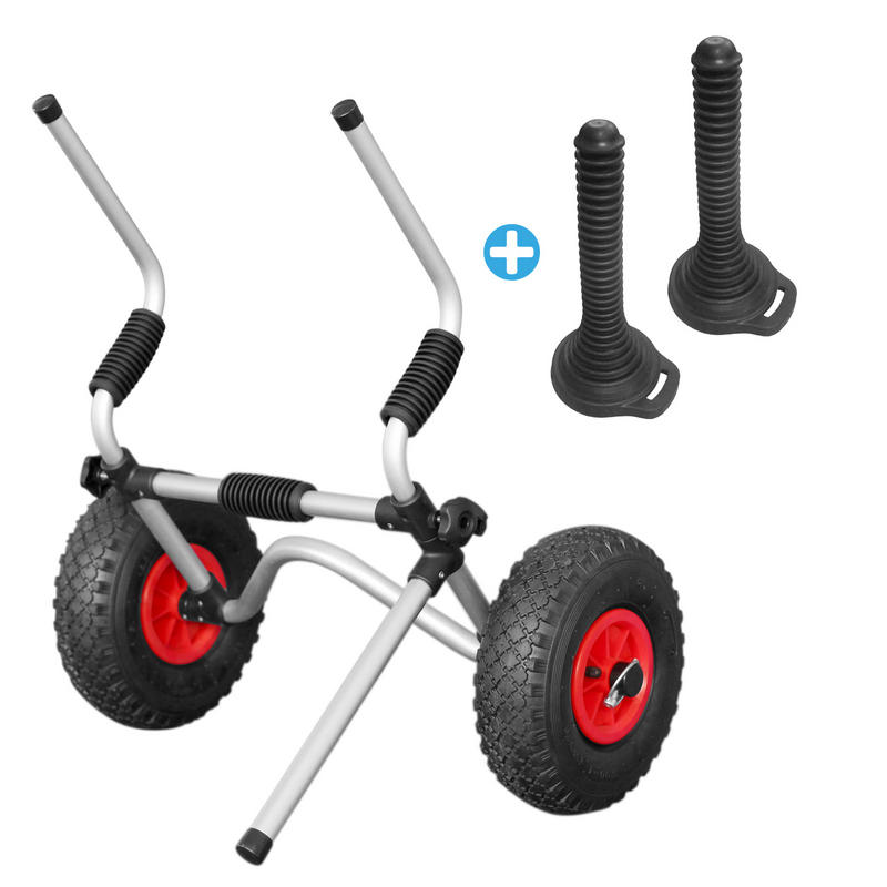 GoSea Sit on Top Kayak Trolley with Rubber Cones