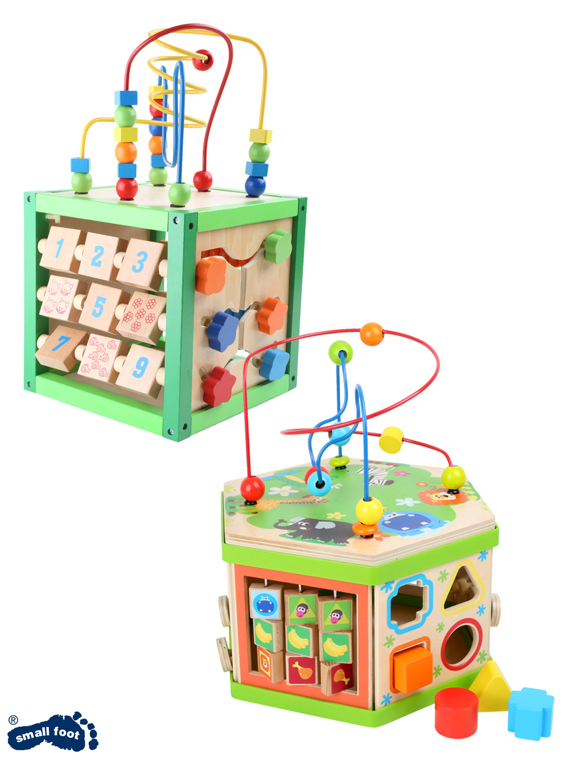 Details About Wooden Activity Cube Toy Multi Function Learning Motor Skills Toddler Childrens