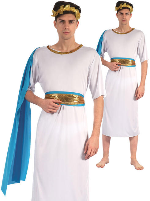 Men's Greek God With Blue Sash